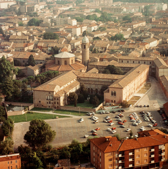 Fig. 5: Aerial photo of the old Benedictine Monastery of San Vitale. Credit: Nazario Spadoni