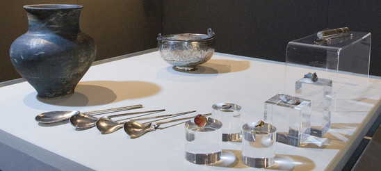 Fig. 9: Silver hoard of Everbeek (south of Velzeke), mid-third century AD. Credit: The Provinciaal Archeologisch Museum Velzeke
